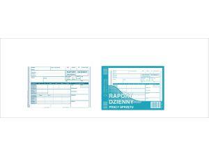 D RAPORT DZIENNY PRACY SPRZĘTU A5 790-3 DRUK