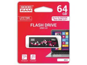 PENDRIVE GOODRAM 64GB USB 3.0 CL!CK CZARNY