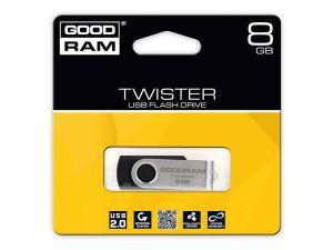 PENDRIVE GOODRAM 8GB USB 2.0 TWISTER CZARNY