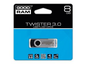 PENDRIVE GOODRAM 8GB USB 3.0 TWISTER CZARNY