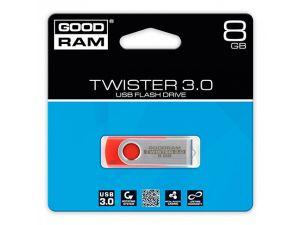 PENDRIVE GOODRAM 8GB USB 3.0 TWISTER CZERWONY