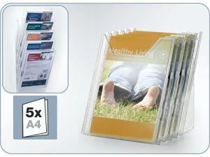 POJEMNIK NA ULOTKI DURABLE COMBIBOXX A4 5 SZT. PRZEZROCZYSTY